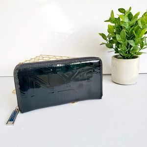 DKNY Monogram Patent Leather Wallet